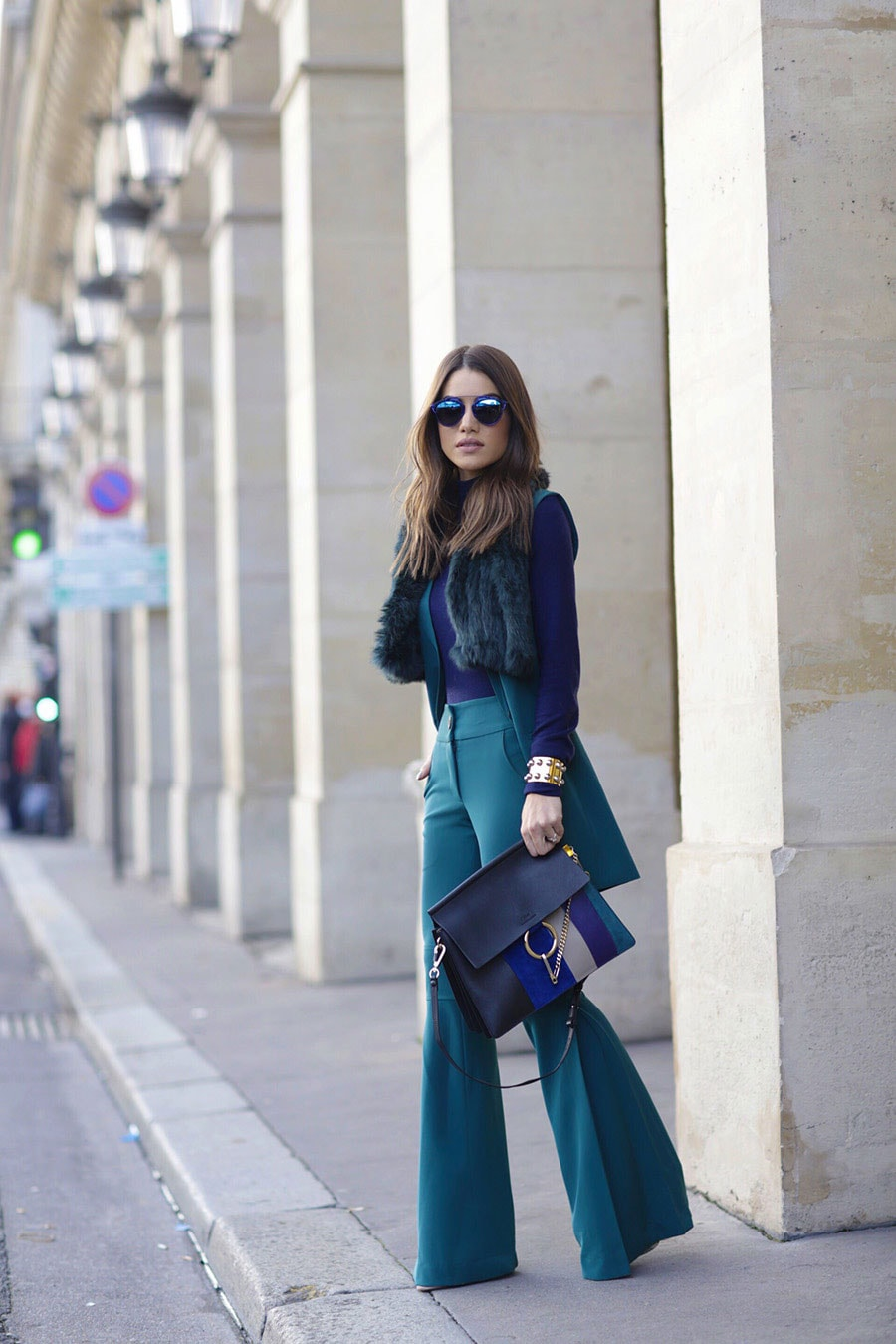 OuiPlease OuiBlog Paris Fashion Week Street Style wide leg trousers