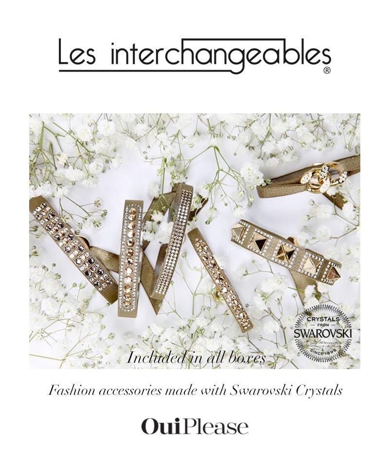OuiPlease Spoiler Alert French Brand Les Interchangeables Swarovski Crystal Bracelet