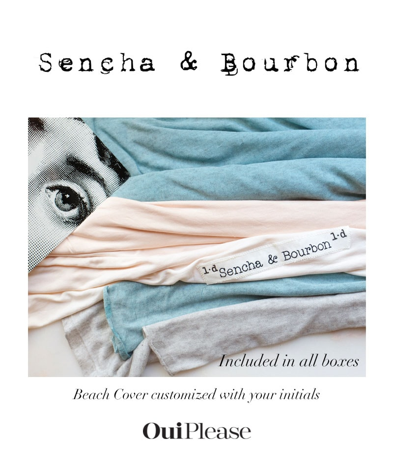 Sencha & Bourbon Monogram Beach Covers OuiPlease Partners