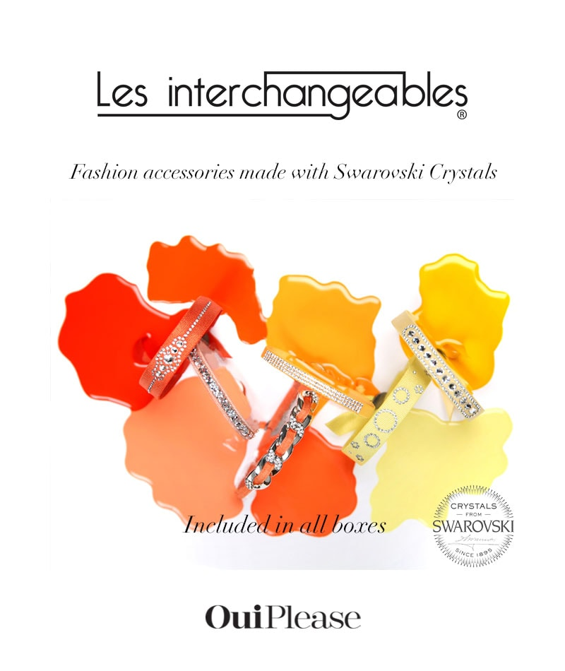 OuiPlease French Brand Les Interchangeables Fashion accessories swarovski crystals