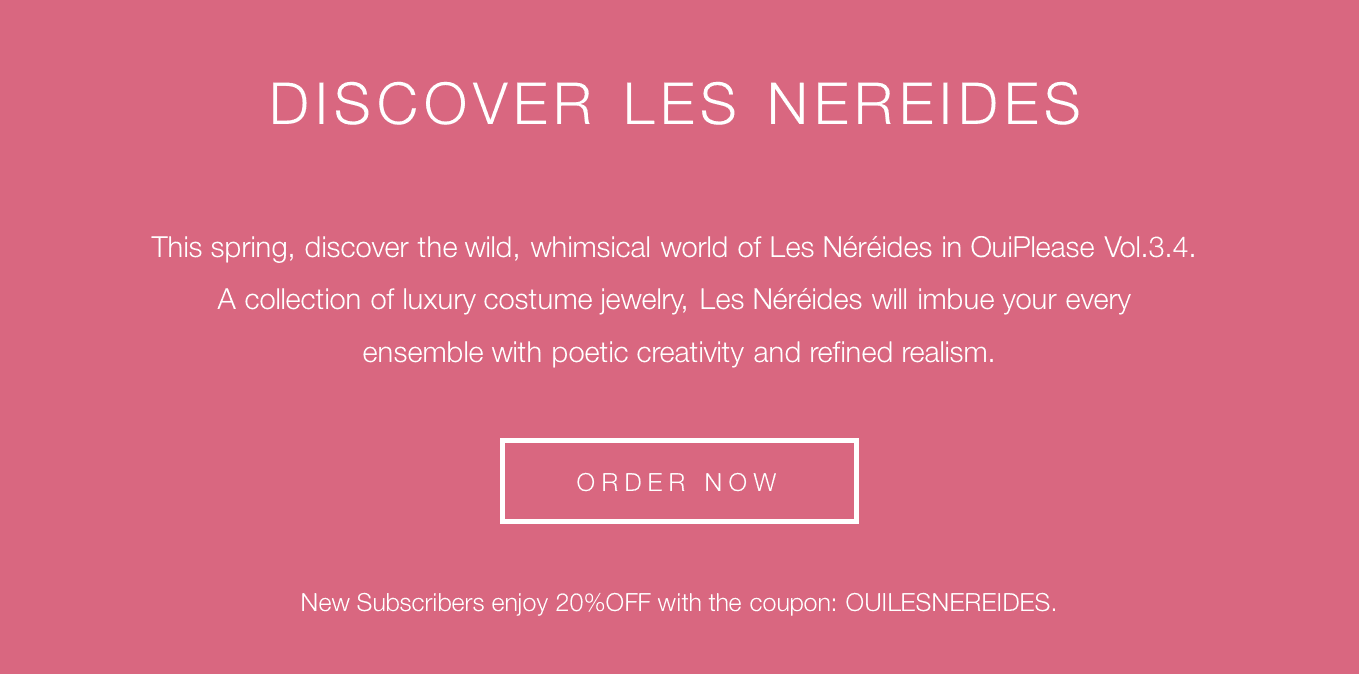 OuiPlease Coupon Code Les Nereides