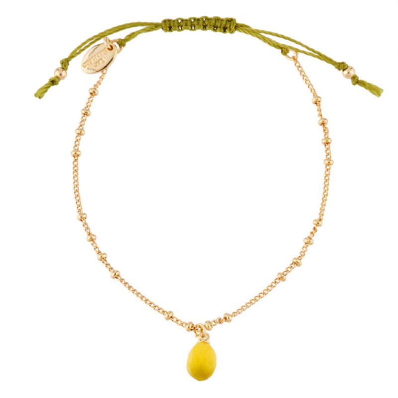 Les Nereides Gold Charm Lemon Bracelet OuiPlease OuiShop