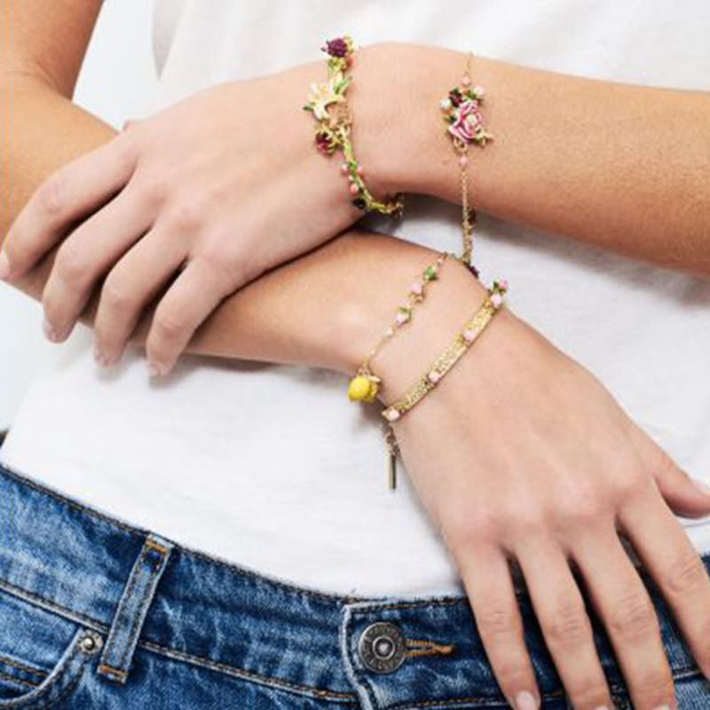Les Nereides gold charm lemon bracelet OuiPlease OuiShop A La Carte