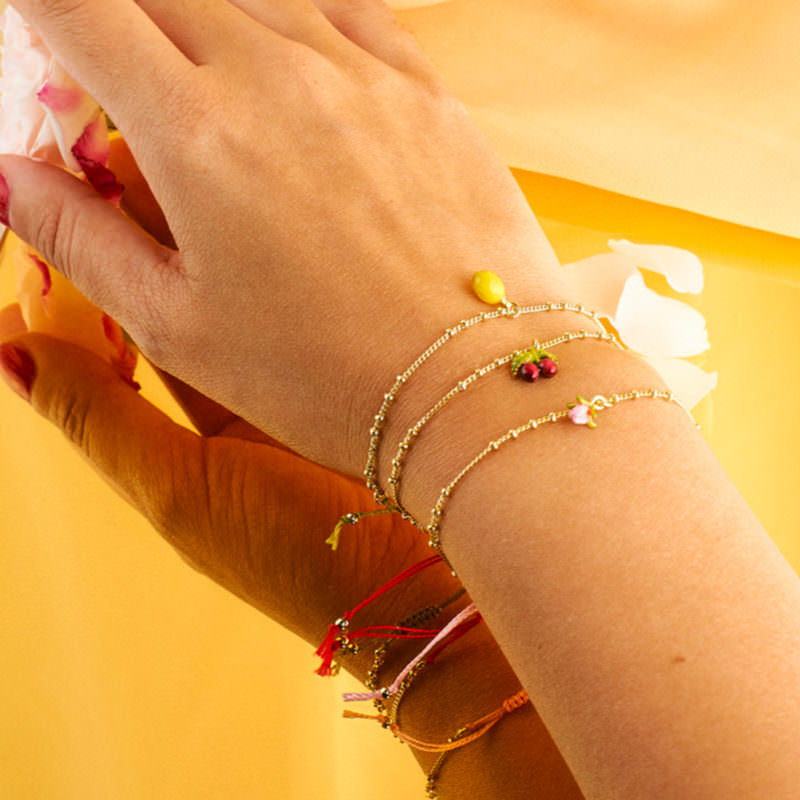 Les Nereides Luxury Costume Jewelry Cherry Bracelet OuiPlease OuiShop A La Carte