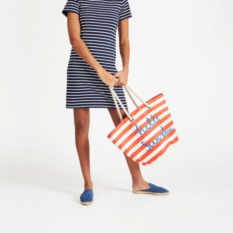 Little Marcel Red Stripe Beach Bag Sale OuiPlease A la Carte