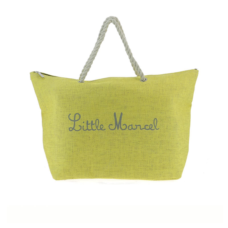 Little Marcel Yellow Canvas Beach Bag OuiPlease OuiShop