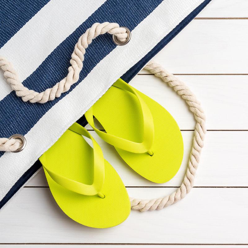 Little Marcel Blue Stripe Beach Bag