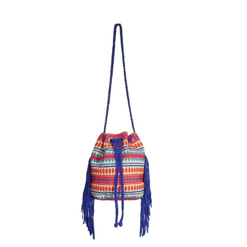 Little Marcel Bohemian Bucket Bag Ecru