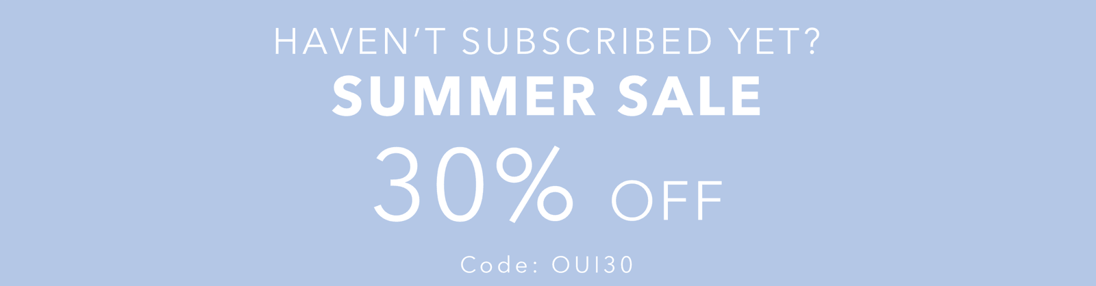 OuiPlease Summer Sale Coupon Code