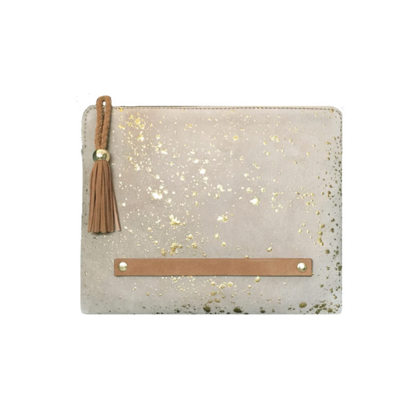 Maradji Django Safran Velvet Leather iPad Case OuiPlease OuiShop