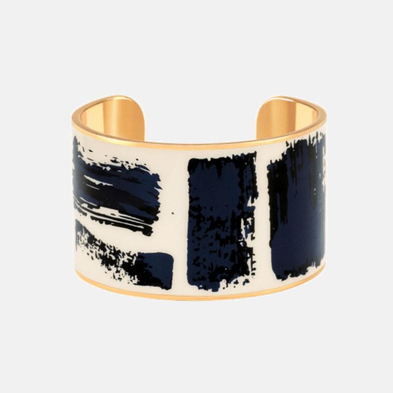 Bangle Up Brush blue gold bracelet OuiPlease OuiShop