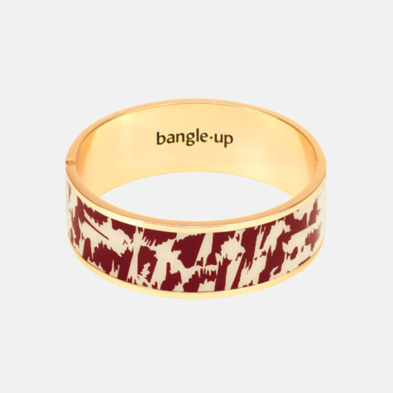Bangle Up Joy dark red sand white gold bracelet OuiPlease OuiShop
