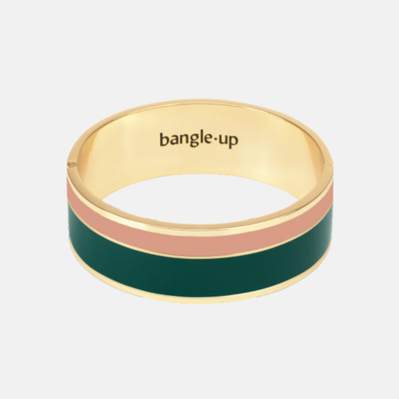 Bangle Up Wolf Green Powder Pink Gold Bracelet OuiPlease OuiShop