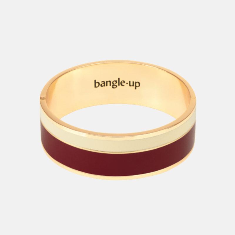 Bangle Up Vaporetto Burgundy Sand White Gold Bracelet OuiPlease OuiShop