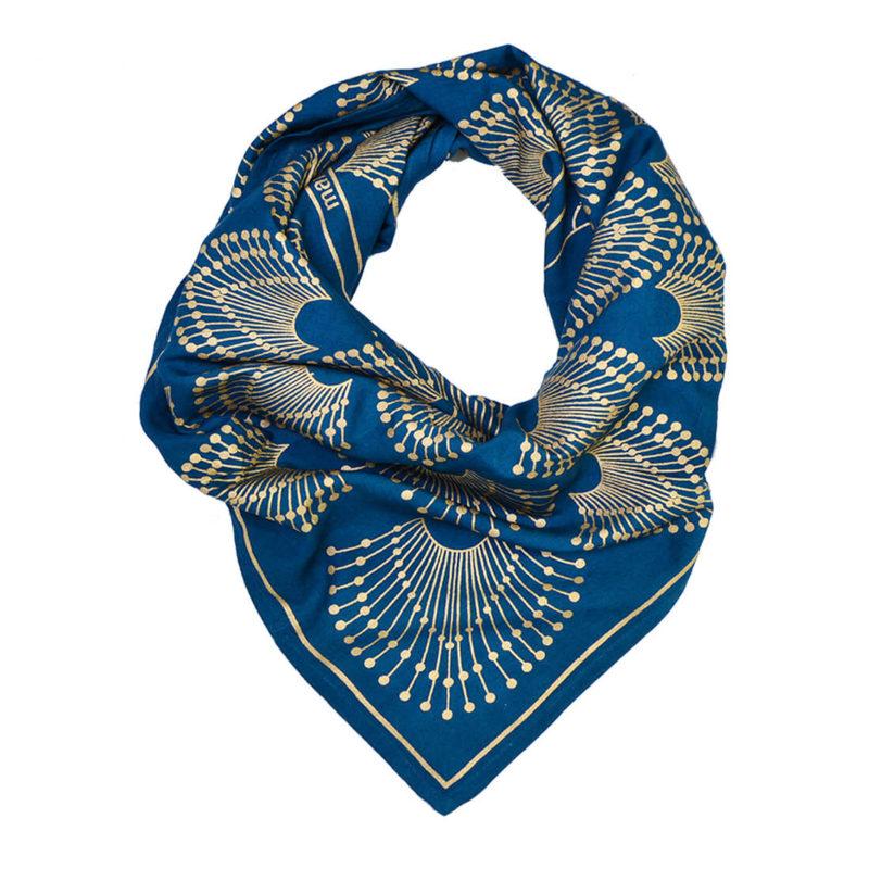 Maradji Francette Peacock Print Silk Scarf OuiPlease OuiShop