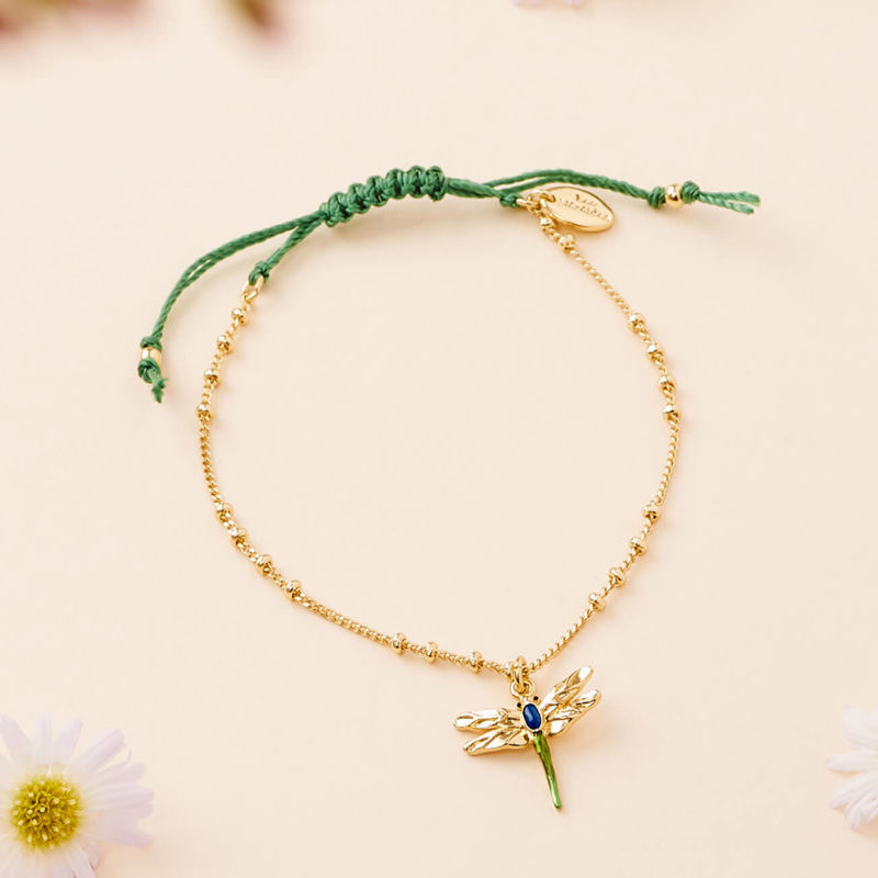 OuiPlease OuiShop Les Nereides Dragonfly Gold Minimalist Bracelet