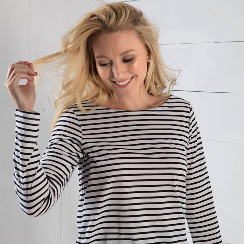 Little Marcel White Striped Long Sleeve Shirt