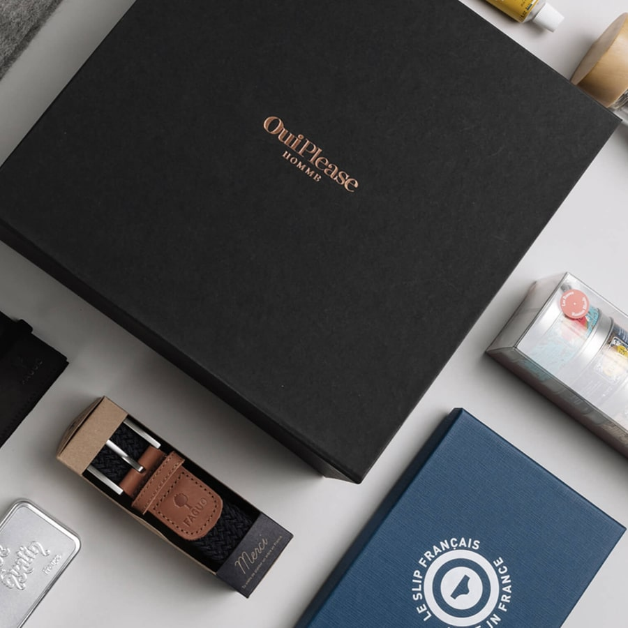 OuiPlease Box for Men, Faguo Belt, Le Slip Francais Underwear