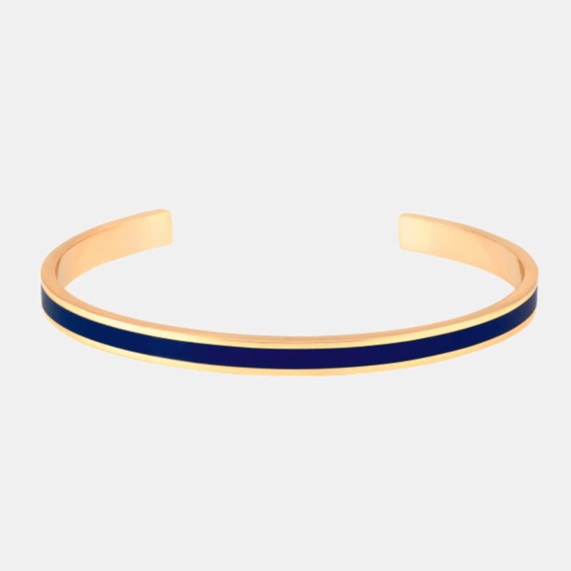 OuiPlease OuiShop Bangle Up Paris Night Blue Gold Cuff