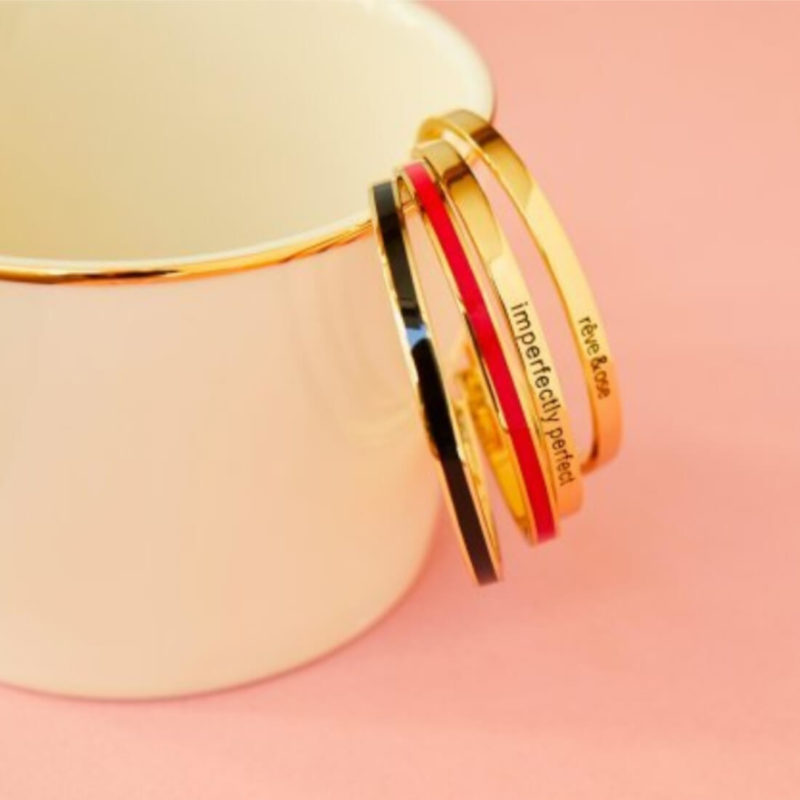 OuiPlease OuiShop Bangle Up Paris Black Gold Cuff