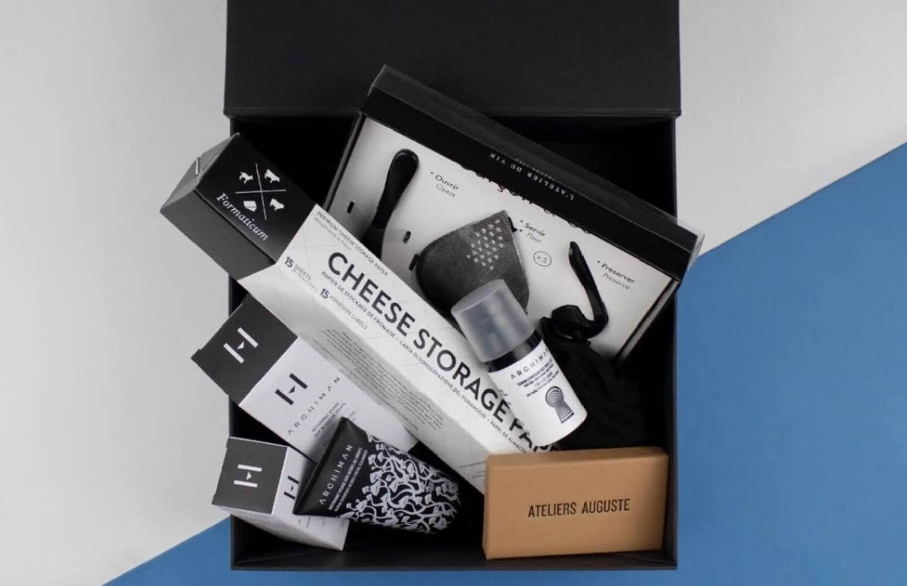 Father's Day Box with Cheese Storage Paper, Archiman, Garçon & Co, and Ateliers Auguste