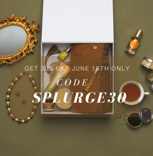 OuiPlease National Splurge Day 30% off coupon