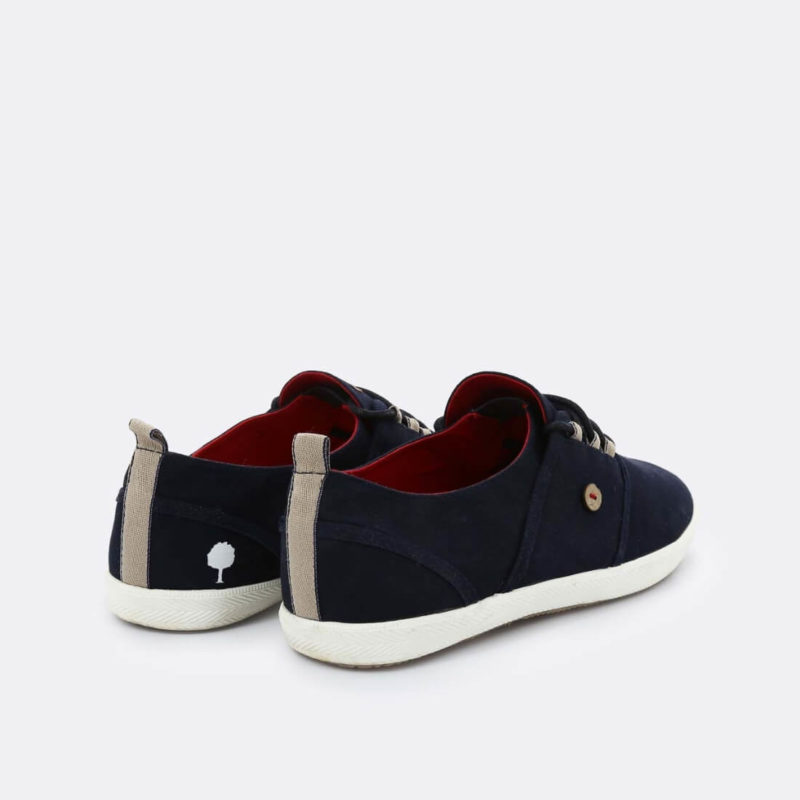 Faguo Cypress Cotton Navy sneakers Back