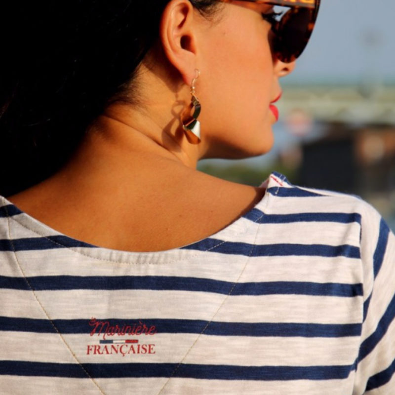 La Marinière Française Erica Striped Tee Back OuiPlease