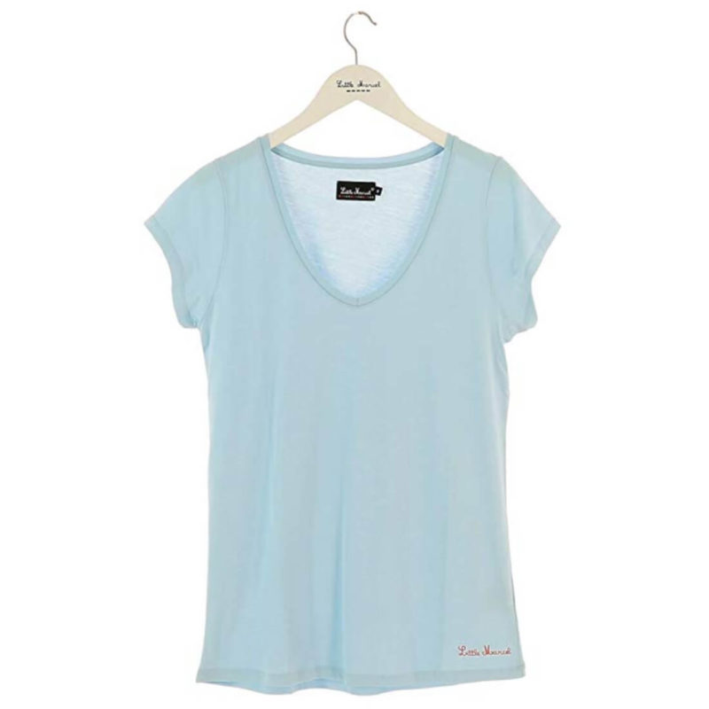 Little Marcel Tasim V-Neck Tee Ciel OuiPlease Women's Online Shop white background
