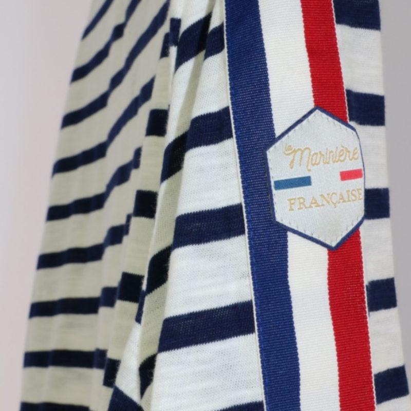 La Marinière Française Emile Men's Long Sleeve Striped Tee OuiPlease Homme Men's Shop logo close up side
