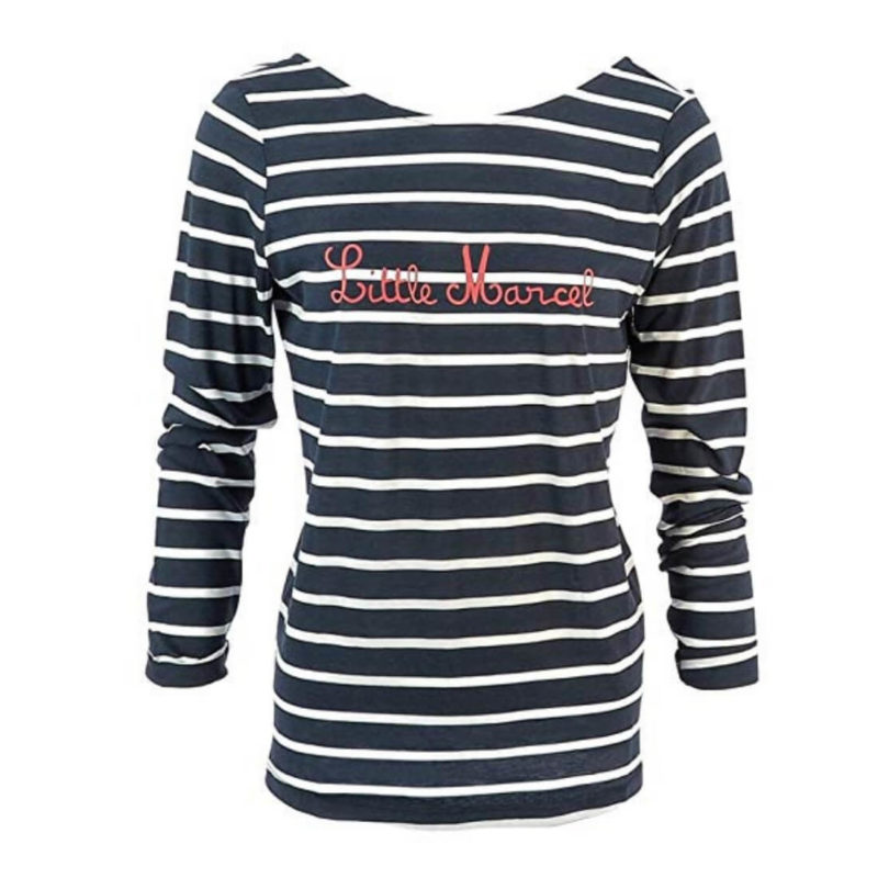 Little Marcel Tedar Striped Tee OuiPlease Women's Online Shop white background