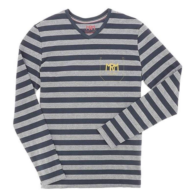 Mr. Marcel Tegi Men's Striped Tee OuiPlease Homme Men's Online Store white background