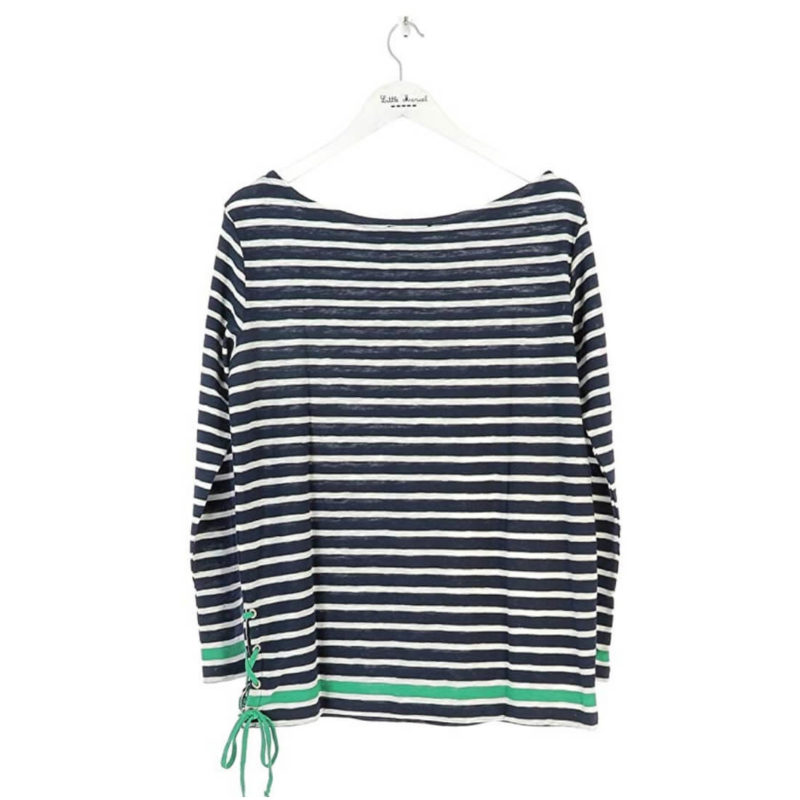 Little Marcel Tibalt Navy Striped Tee white background