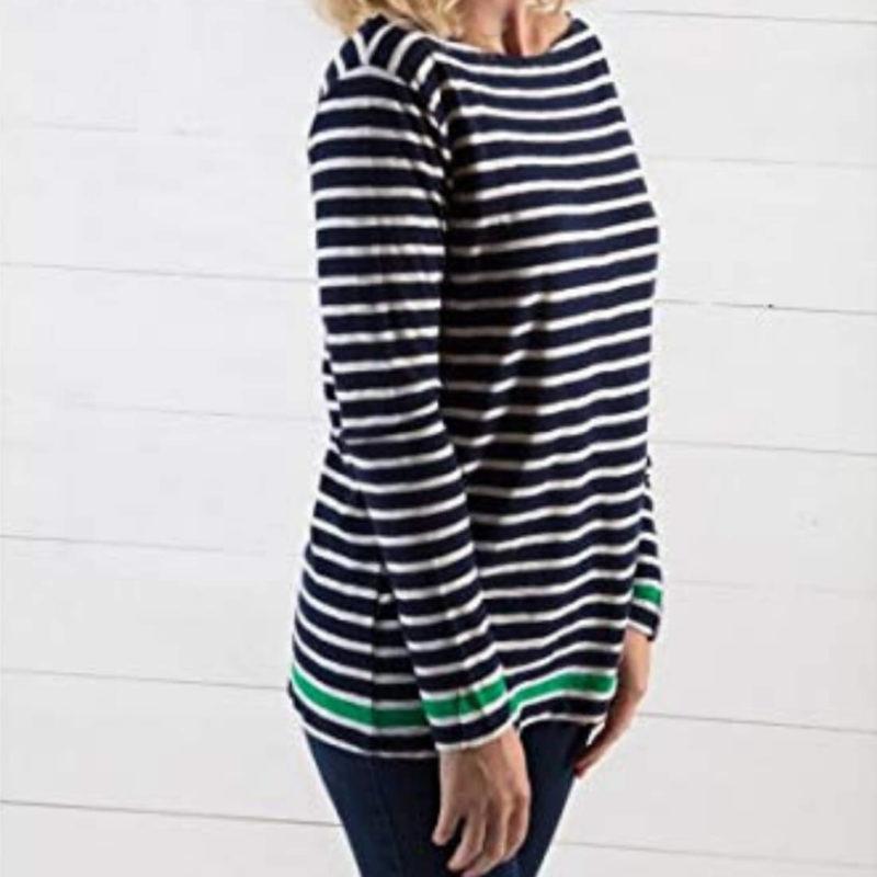 Little Marcel Tibalt Navy Striped Tee Side View OuiPlease Women's Online Store