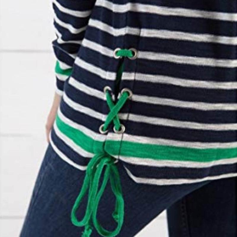 Little Marcel Tibalt Navy Striped Tee Tie Detail OuiPlease Women's Online Store