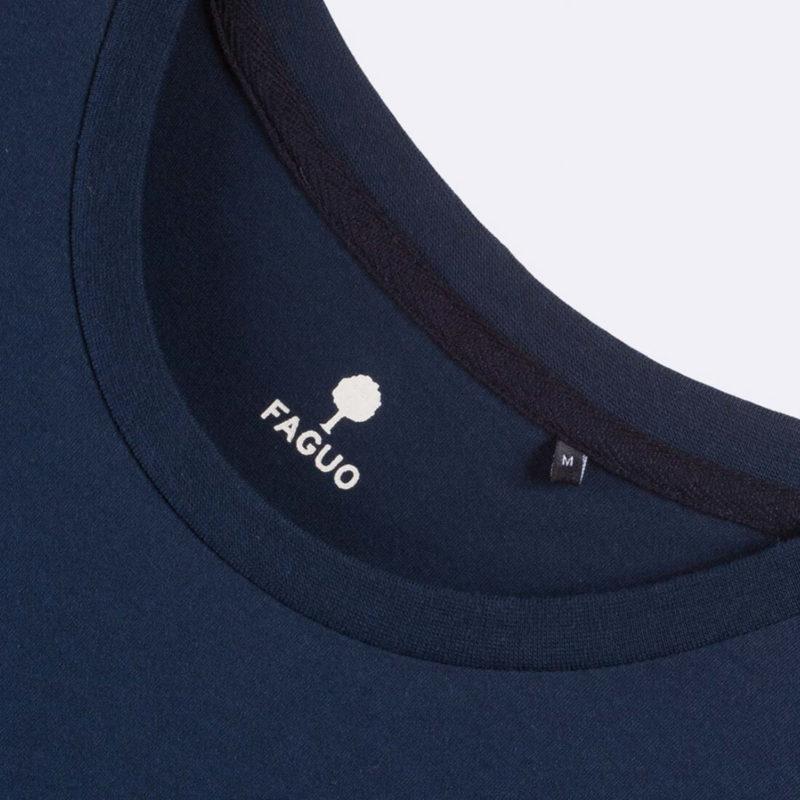 FAGUO Arcy Men's Navy Blue T-Shirt Logo
