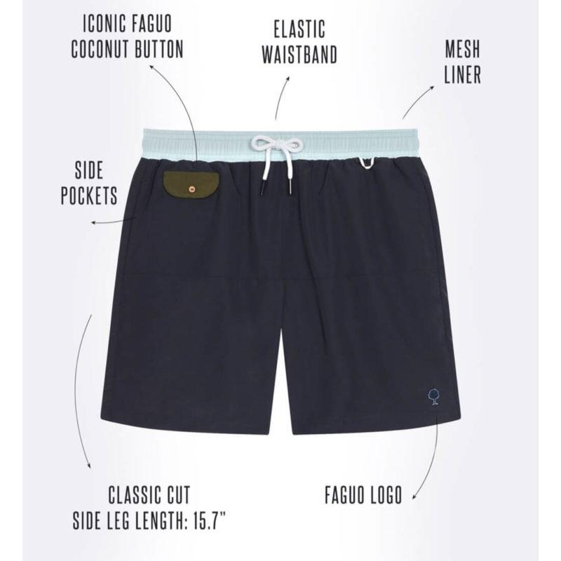 FAGUO GEX Men's Swim Trunks OuiPlease Homme Men's Online Shop
