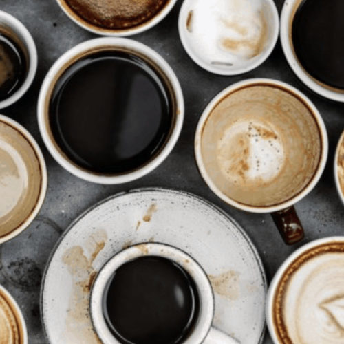 Different coffee cups and flavors lifestyle image