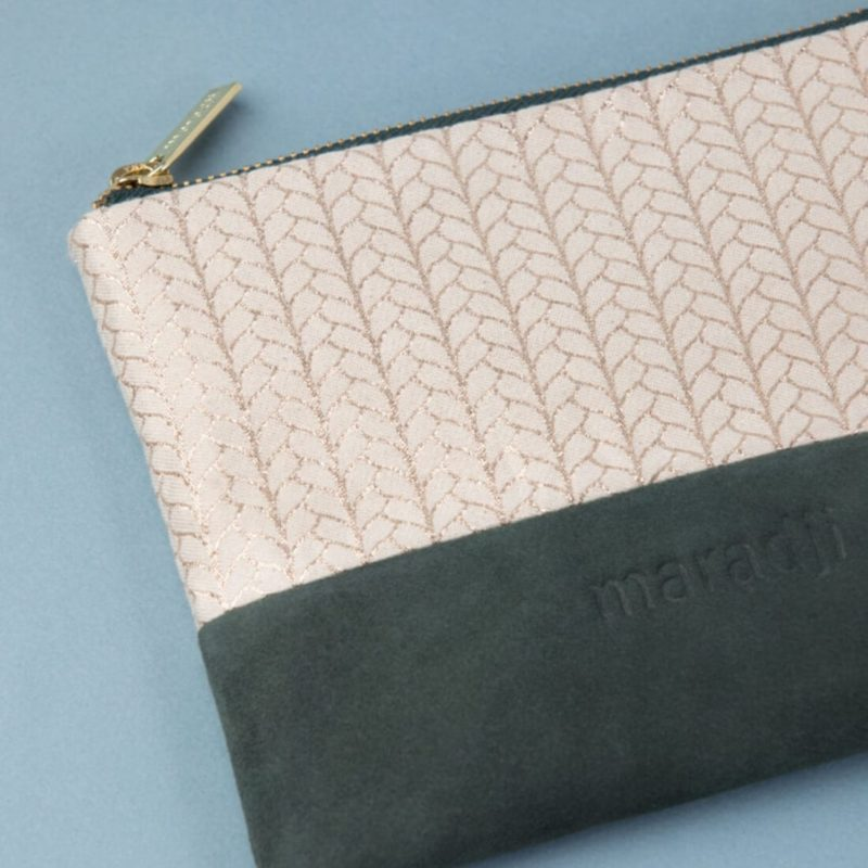 Maradji Alphonse Forest Green Leather Pouch OuiPlease French Online Shop