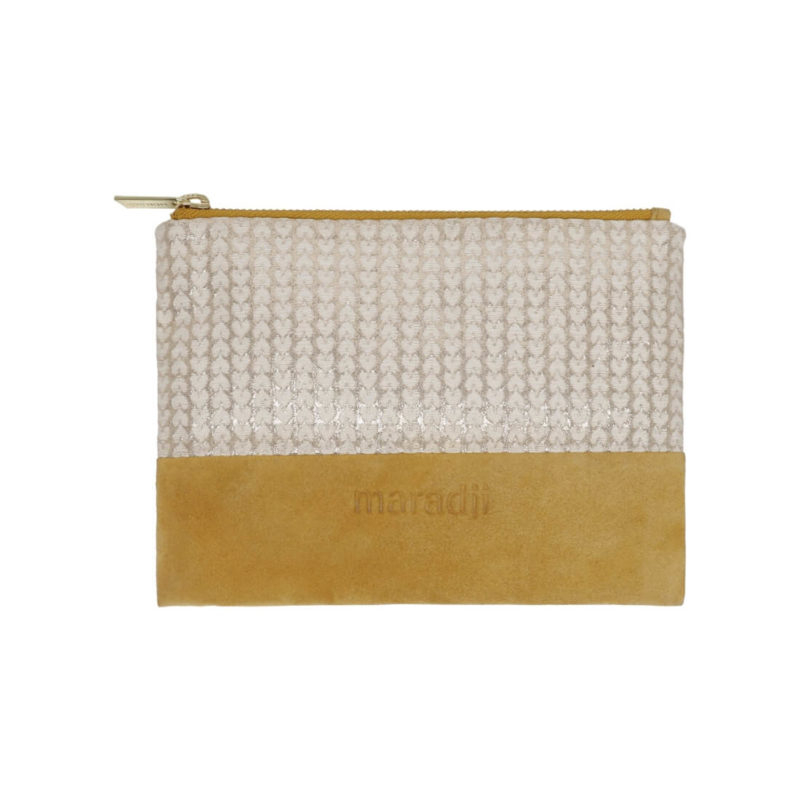 Maradji Alphonse Moutarde Leather Pouch OuiPlease French Online Shop