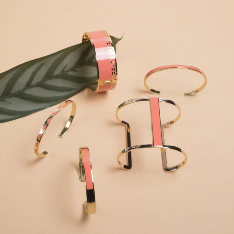 Bangle Up Paris Moon Cuff Neon Rose OuiPlease French Online Shop