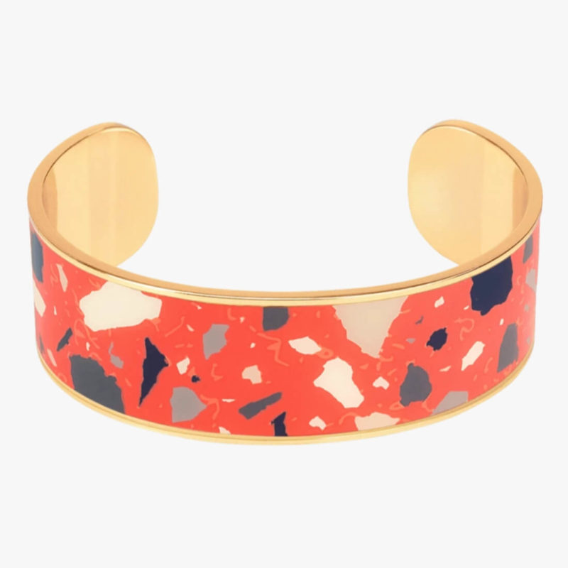 Bangle Up Paris Terazzo Cuff Paprika OuiPlease French Online Shop