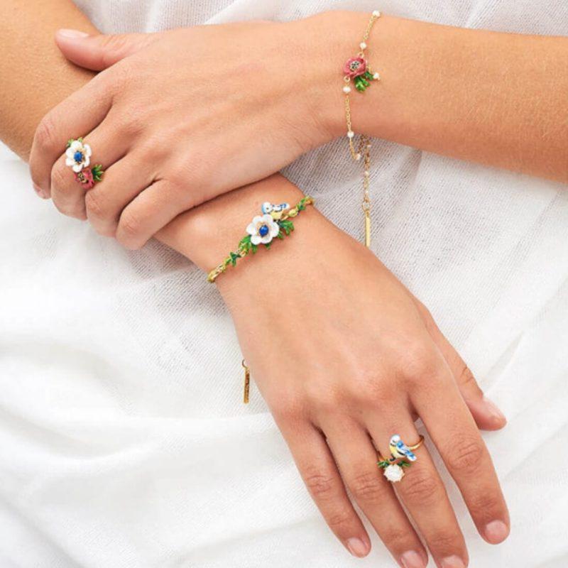 Les Nereides Flower Ring OuiPlease French Online Shop Women wearing jewelry