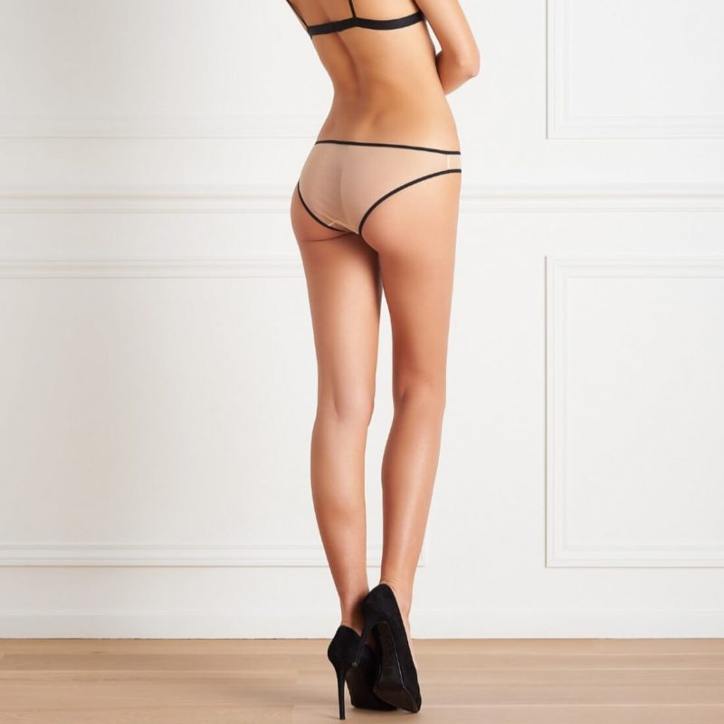 Maison Close L'Antichambre Nude Mesh Panty OuiPlease French Online Shop women wearing the panty