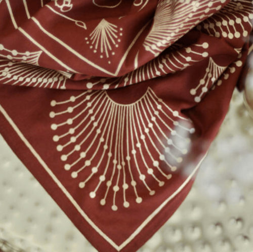 Maradji Paris burgundy print scarf