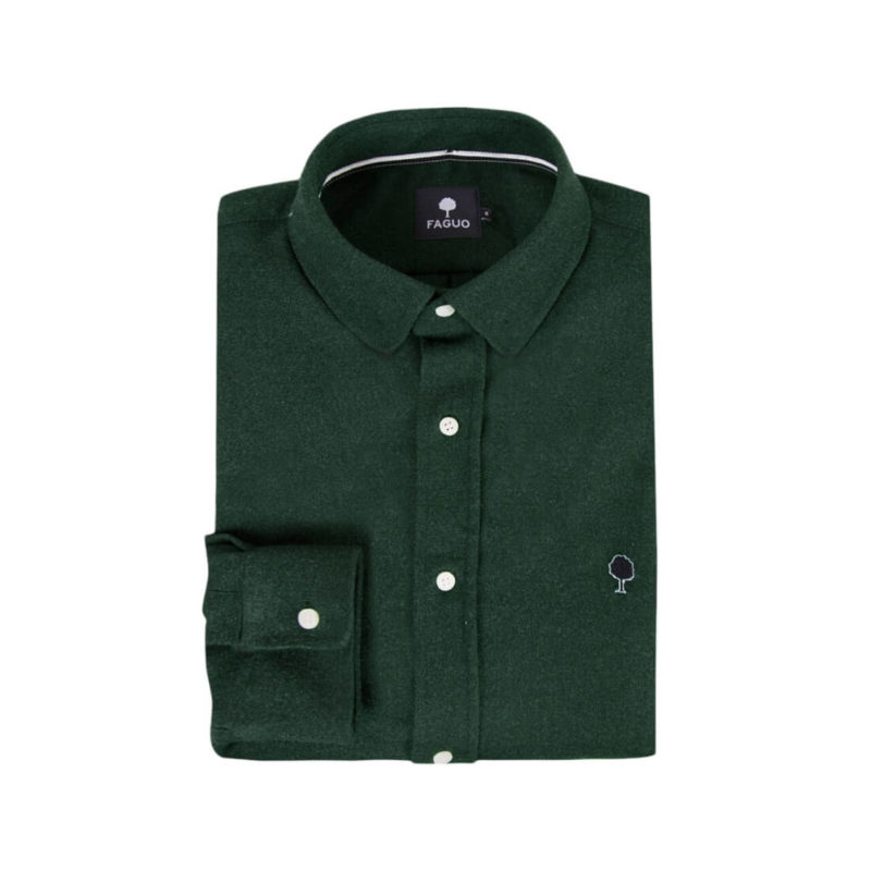 FAGUO GREEN FOLDED SHIRT