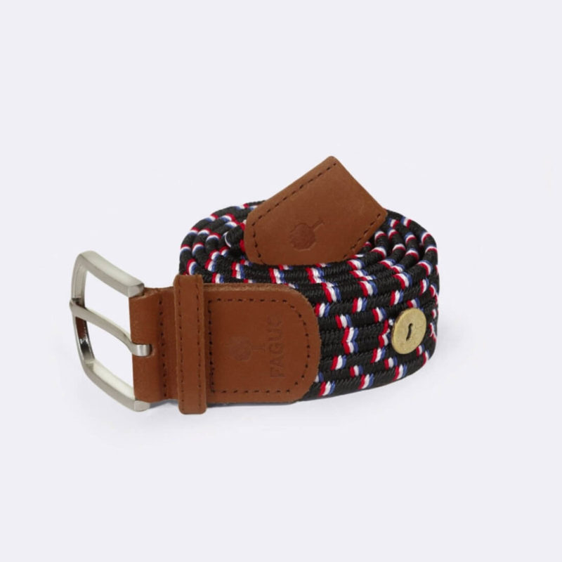 FAGUO Black Braided Belt