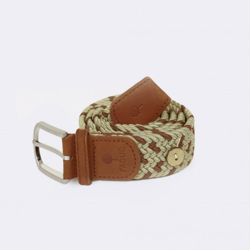 Faguo Beige Braided Belt