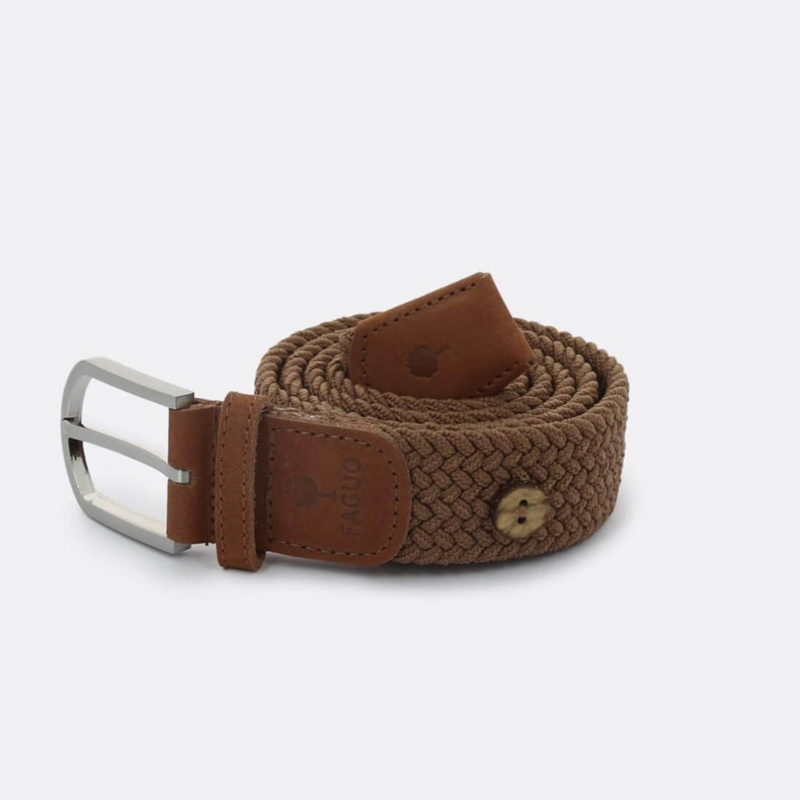 FAGUO brown braided belt