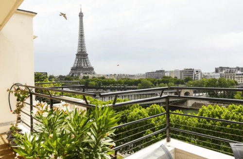 Paris Airbnb with Balcony and Eiffel Tower View